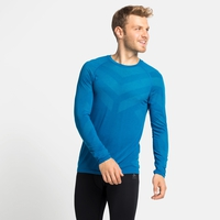 Men's KINSHIP LIGHT Long-Sleeved Base Layer Top, mykonos blue melange, large