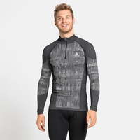 Men's BLACKCOMB Half-Zip Turtleneck Baselayer, black, large