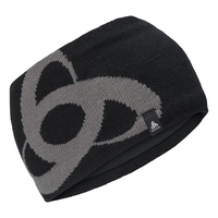 CERAMIWARM MID GAGE Headband, black - odlo steel grey, large