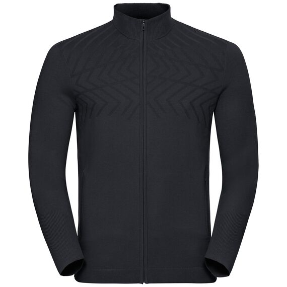 Midlayer full zip UNITY KINSHIP, black melange, large