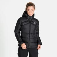 Women's HOODY COCOON N-THERMIC X-WARM Insulated Jacket, black melange, large