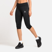 Women's ESSENTIALS SOFT 3/4 Tights, black, large