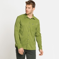 Chemise à manches longues NIKKO CHECK pour homme, macaw green - climbing ivy, large