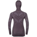 SUW Top Natural + Kinship Warm langärmeliges Oberteil mit Gesichtsmaske, vintage violet melange, large