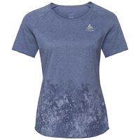 BL TOP s/s MILLENNIUM ELEMENT Print, blue indigo melange - Blackcomb, large
