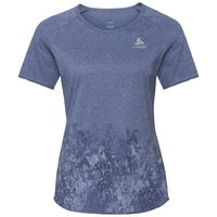 MILLENNIUM ELEMENT PRINT-T-shirt voor dames, blue indigo melange - Blackcomb, large