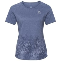 Women's MILLENNIUM ELEMENT PRINT T-Shirt, blue indigo melange - Blackcomb, large