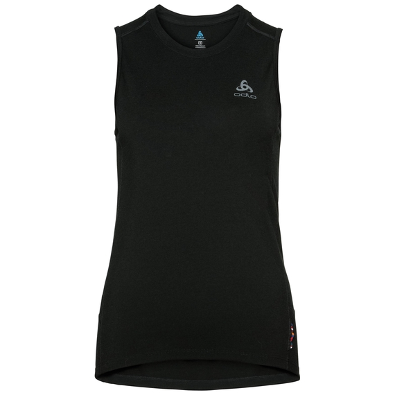 Singlet NATURAL 100% MERINO WARM, black - black, large