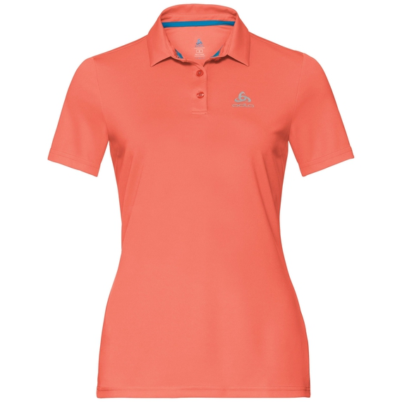 Polo s/s CARDADA, hot coral, large
