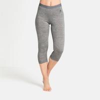 Damen NATURAL 100% MERINO WARM Funktionsunterwäsche 3/4 Hose, grey melange - grey melange, large