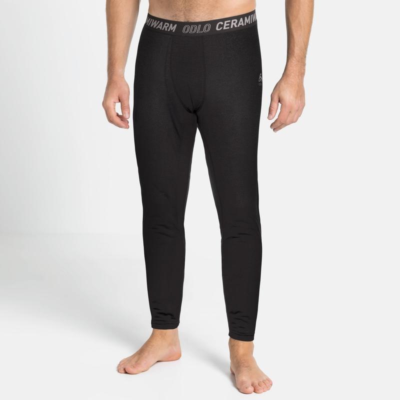 Men's ACTIVE THERMIC Base Layer Bottoms, black melange, large