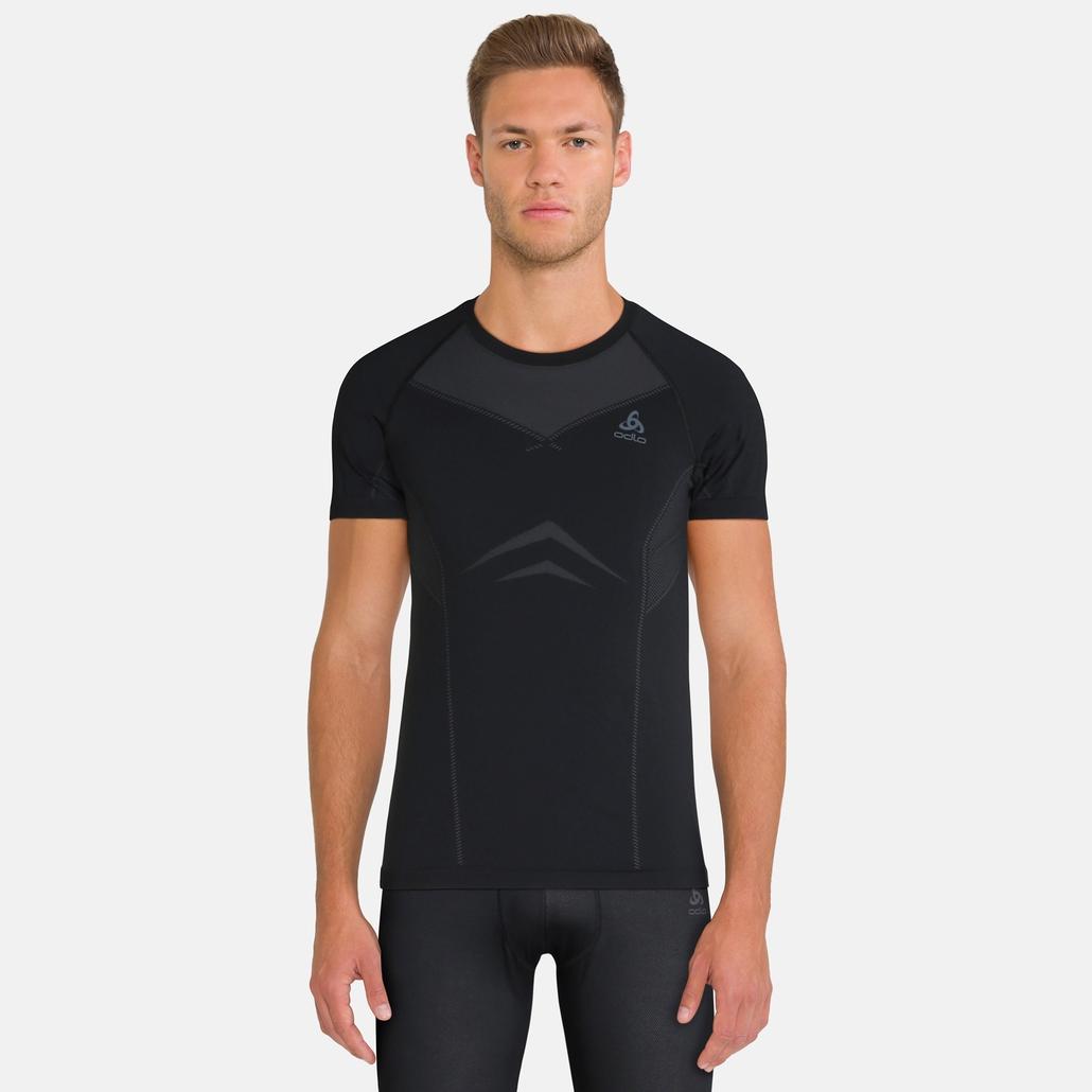 PERFORMANCE EVOLUTION-sportondertop voor heren, black - odlo graphite grey, large