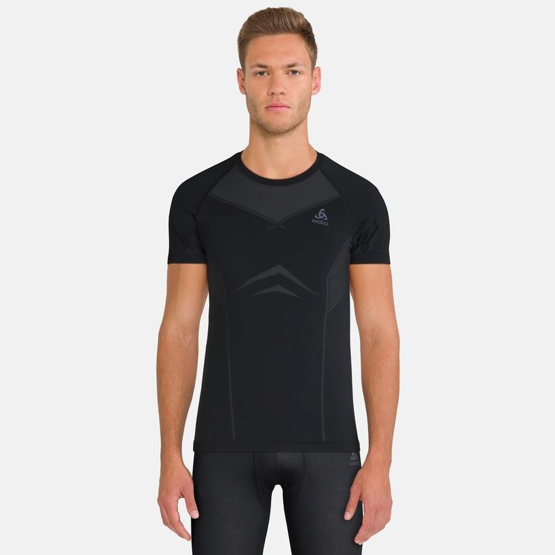 Men's PERFORMANCE EVOLUTION Sports Underwear T-Shirt, black - odlo graphite grey, large