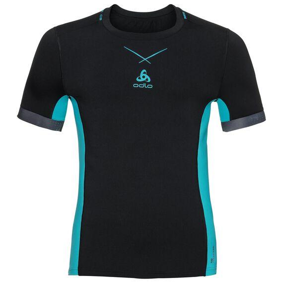 Ceramicool pro baselayer shirt men, black - lake blue, large