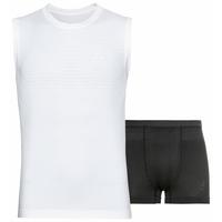 Men's PERFORMANCE LIGHT Sports Underwear Set, white - black, large