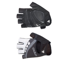 Gloves short IRON, black - odlo graphite grey, large
