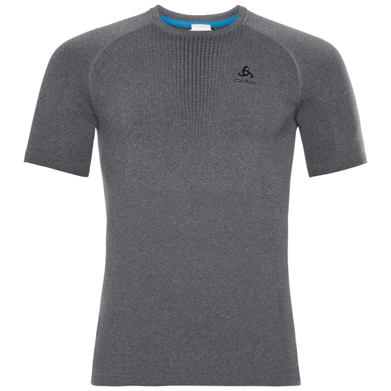 SUW Top PERFORMANCE Warm kurzärmeliges Oberteil mit Rundhalsausschnitt, grey melange - black, large