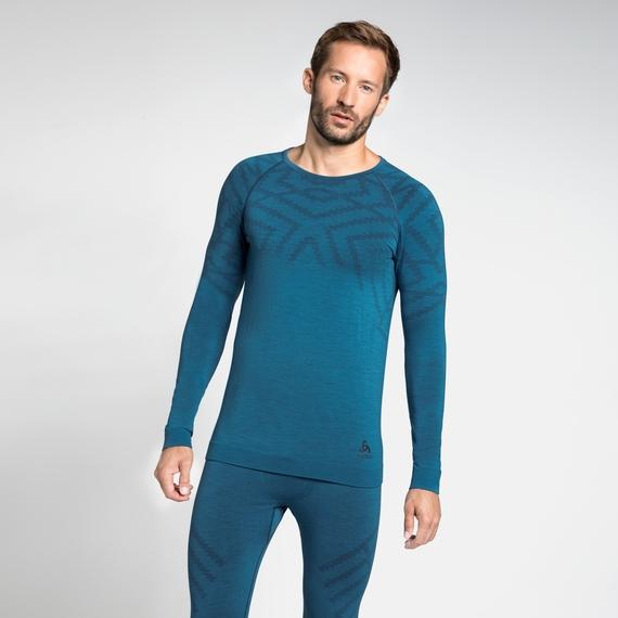 Men's NATURAL + KINSHIP WARM Long-Sleeve Base Layer Top, niagara melange, large