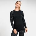 Women's NATURAL + KINSHIP WARM Long-Sleeve Base Layer Top, black melange, large