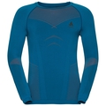 Shirt l/s crew neck EVOLUTION WARM, mykonos blue - orangeade, large