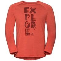 Men's CONCORD Long-Sleeve T-Shirt, paprika - explore print SS19, large