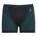 Men's PERFORMANCE WINDSHIELD XC LIGHT Boxers, black - lake blue, large
