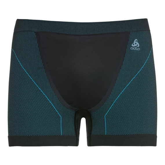 Herren PERFORMANCE WINDSHIELD XC LIGHT Sportunterwäsche Boxershorts, black - lake blue, large