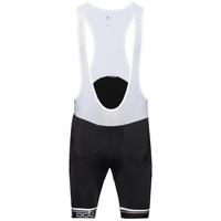 Culotte corto con tirantes ciclismo FLASH X, black - white, large