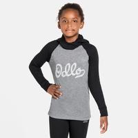 Tee-shirt technique à manches longues et protection faciale ACTIVE WARM ECO KIDS pour enfant, black - grey melange - graphic FW20, large