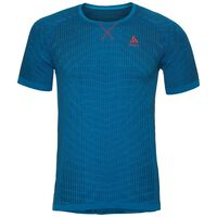 Basislaag top met Ronde hals k/m Blackcomb LIGHT, energy blue - blue jewel, large