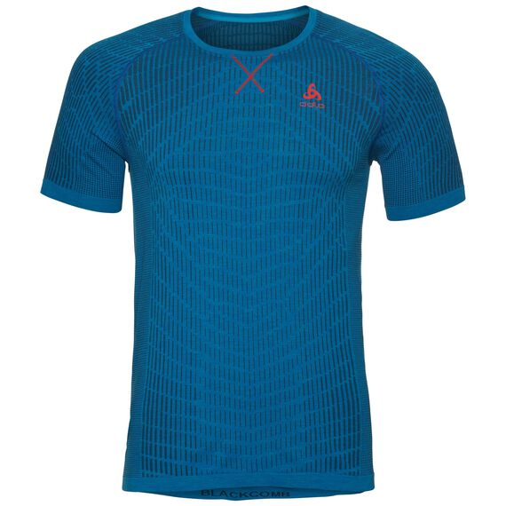 BL Top Crew neck s/s BLACKCOMB Light, energy blue - blue jewel, large