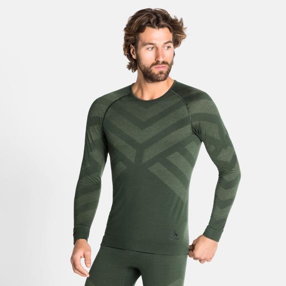 Herren NATURAL + KINSHIP WARM Baselayer-Shirt, climbing ivy melange, large