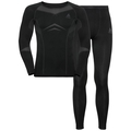 Men's PERFORMANCE EVOLUTION Base Layer Set, black - odlo graphite grey, large