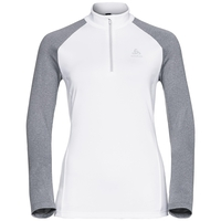 Midlayer 1/2 zip PAZOLA, white - grey melange, large