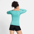 Damen ESSENTIAL SEAMLESS Langarm-Laufshirt, jaded melange, large