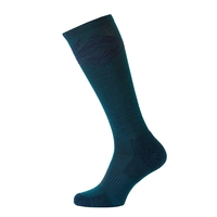 Socks extra long Natural+ Warm, blue coral - diving navy, large