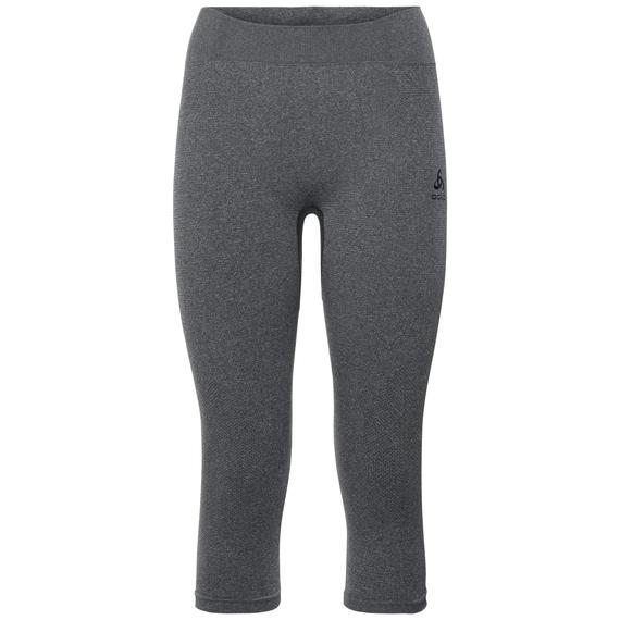 SUW Bottom PERFORMANCE Warm 3/4-lange Hose, grey melange - black, large