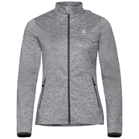 Women's ALAGNA Full-Zip Midlayer Top, grey melange, large