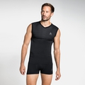 Men's PERFORMANCE LIGHT Base Layer Singlet, black, large