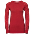 Women's NATURAL + KINSHIP WARM Long-Sleeve Base Layer Top, baked apple melange, large