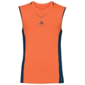 Ceramicool pro baselayer singlet men, orangeade - blue opal, large