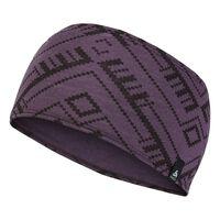 Natural 100 % MERINO Warm Kopfband, vintage violet - AOP FW18, large