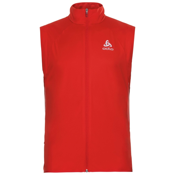 Vest ZEROWEIGHT WINDPROOF Warm, fiery red, large