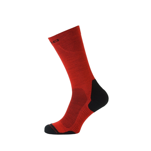 Socks long CERAMIWARM, fiery red - black, large