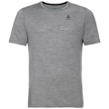 Herren NATURAL 100% MERINO WARM Funktionsunterwäsche T-Shirt, grey melange - black, large