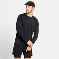 Herren ZEROWEIGHT CHILL-TEC BLACKPACK Langarm-Laufshirt, black - blackpack, large