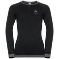 PERFORMANCE WARM KIDS Long-Sleeve Base Layer Top, black - odlo graphite grey, large
