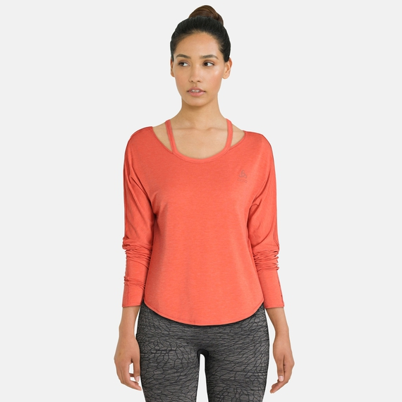 BL Top Crew neck l/s MAIA EASE, baked apple melange, large