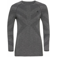 Women's KINSHIP LIGHT Long-Sleeved Base Layer Top, grey melange, large