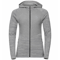 Women's MILLENNIUM PRO Running Jacket, odlo concrete grey - silver cloud - odlo concrete grey, large